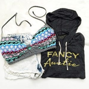 Fancy Auntie Hooded Lightweight Sweatshirt || Aunt